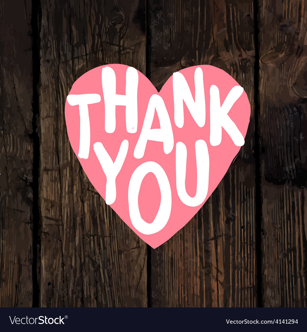 Thank you wooden vector | Price: 1 Credit (USD $1)