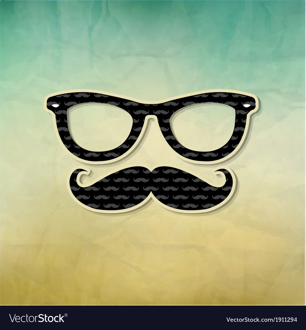Vintage hipster poster vector | Price: 1 Credit (USD $1)