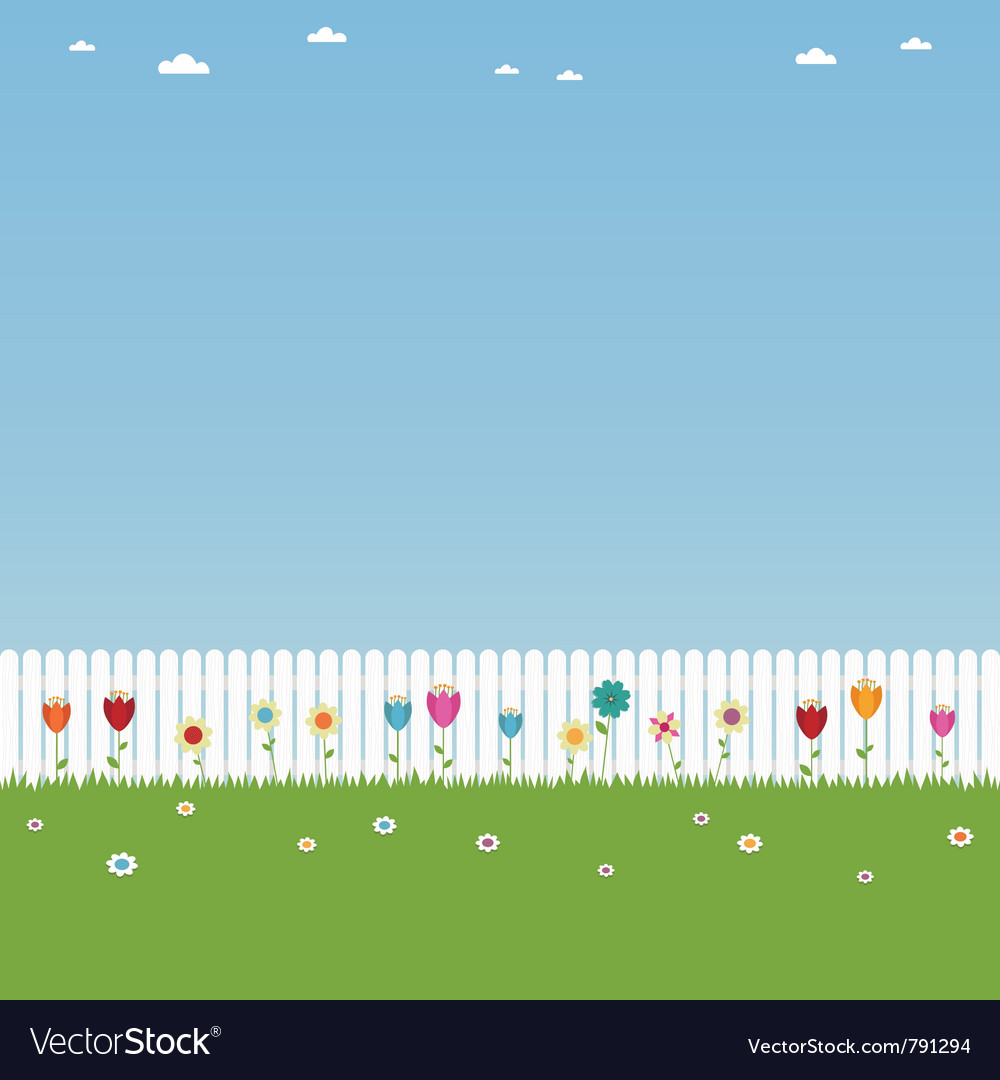 White picket fence vector | Price: 1 Credit (USD $1)