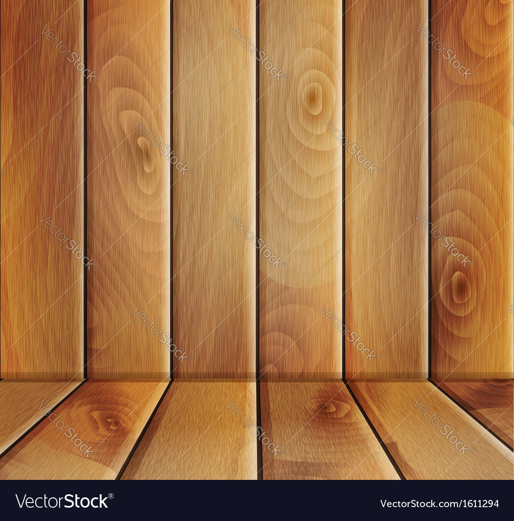 Wooden floor and wall vector | Price: 1 Credit (USD $1)
