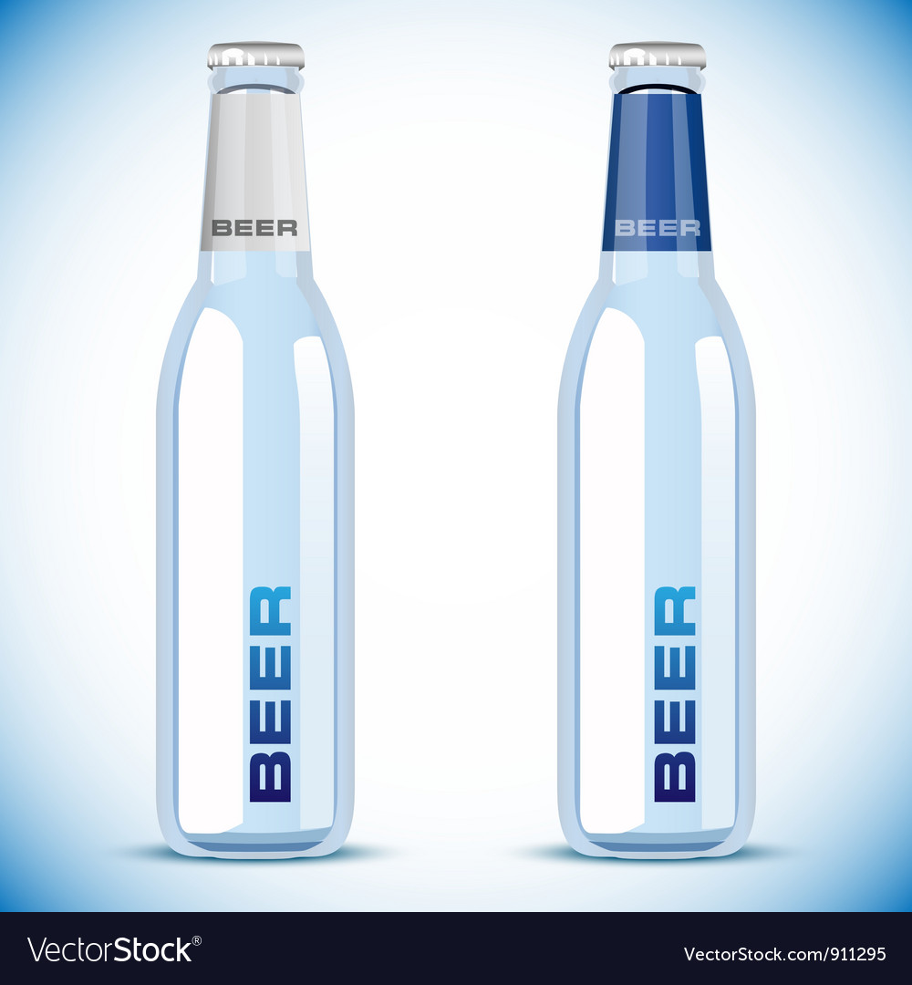 Beer bottle on white background vector | Price: 1 Credit (USD $1)