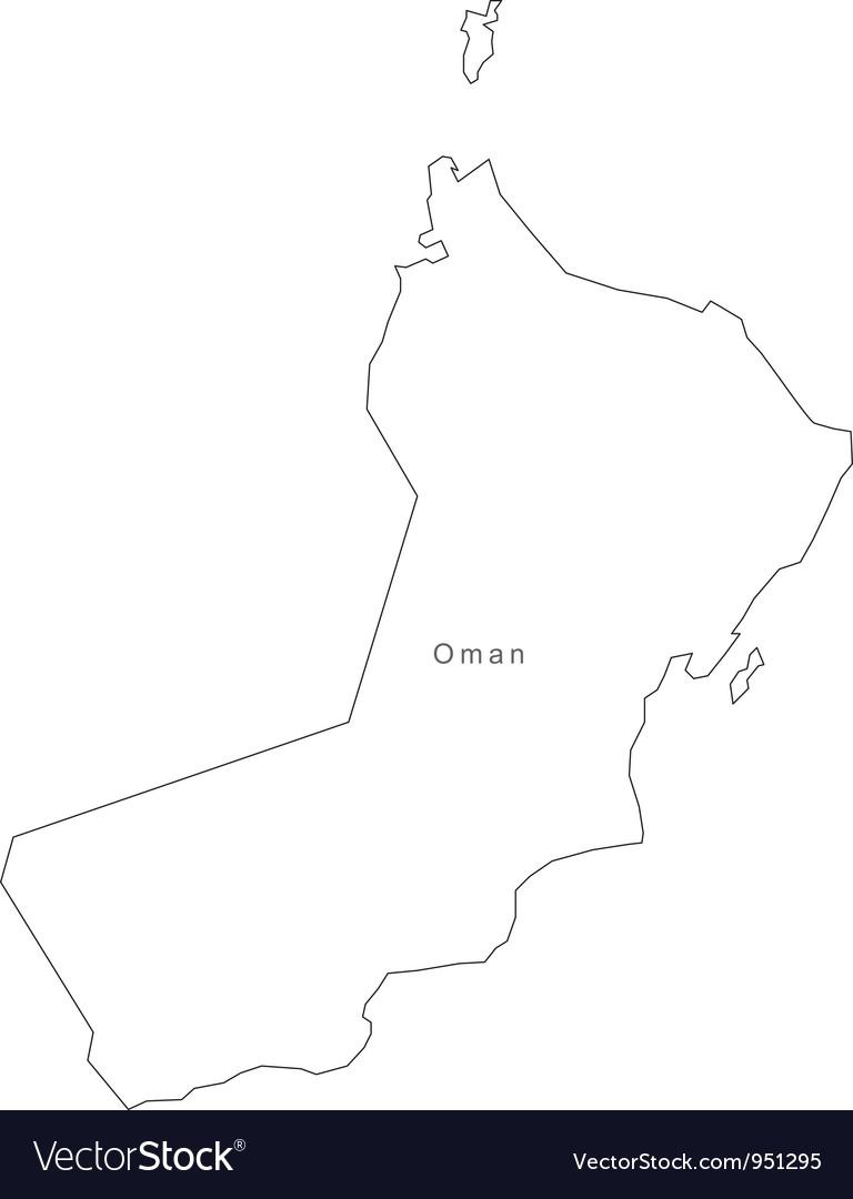 Black white oman outline map vector   Price: 1 Credit (USD $1)