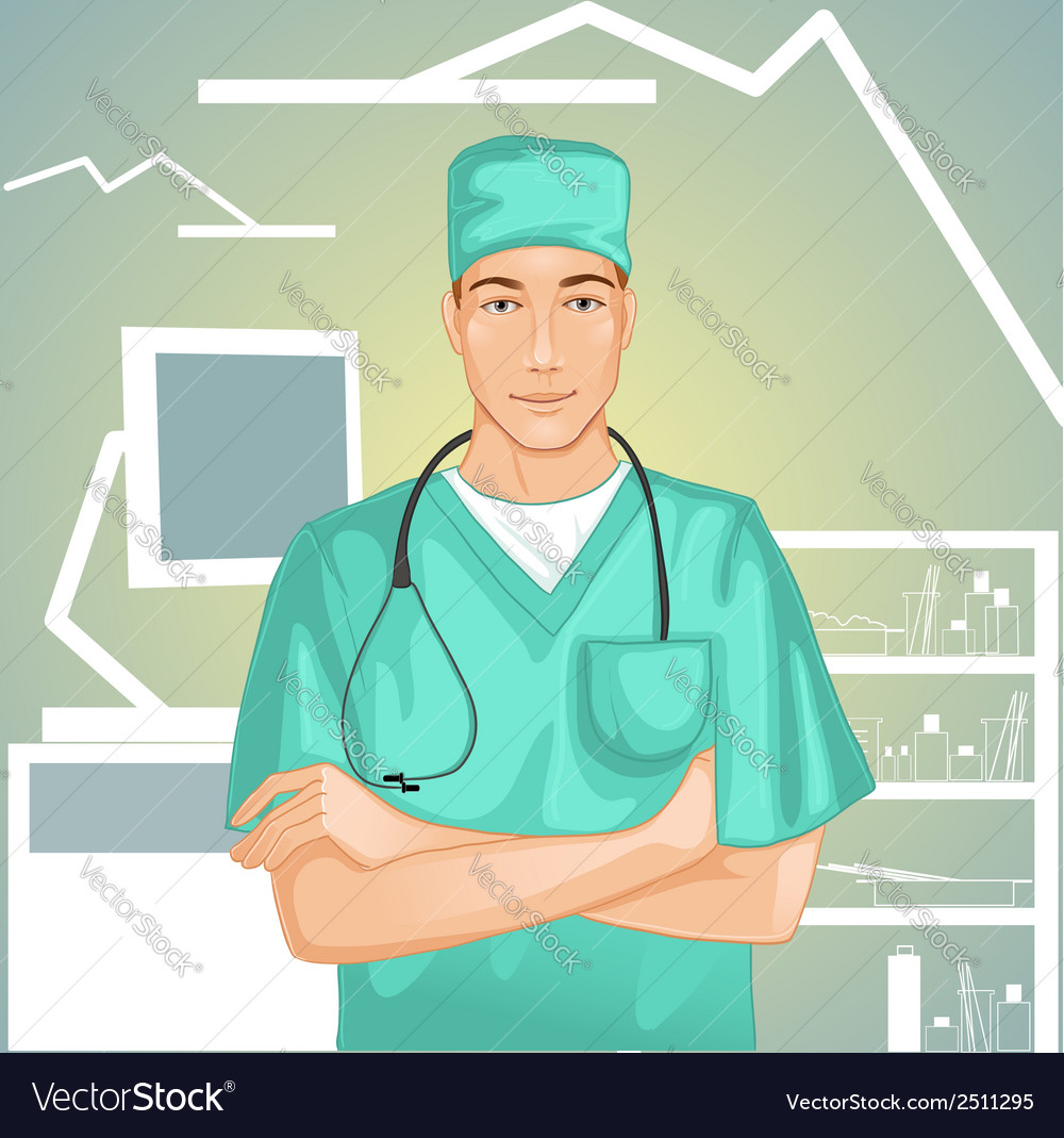 Doctor with stethoscope vector | Price: 1 Credit (USD $1)