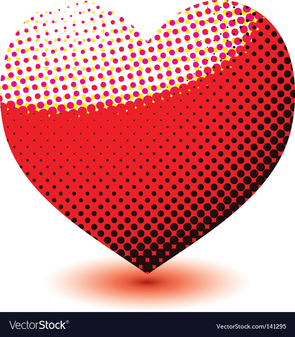 Halftone love heart vector | Price: 1 Credit (USD $1)