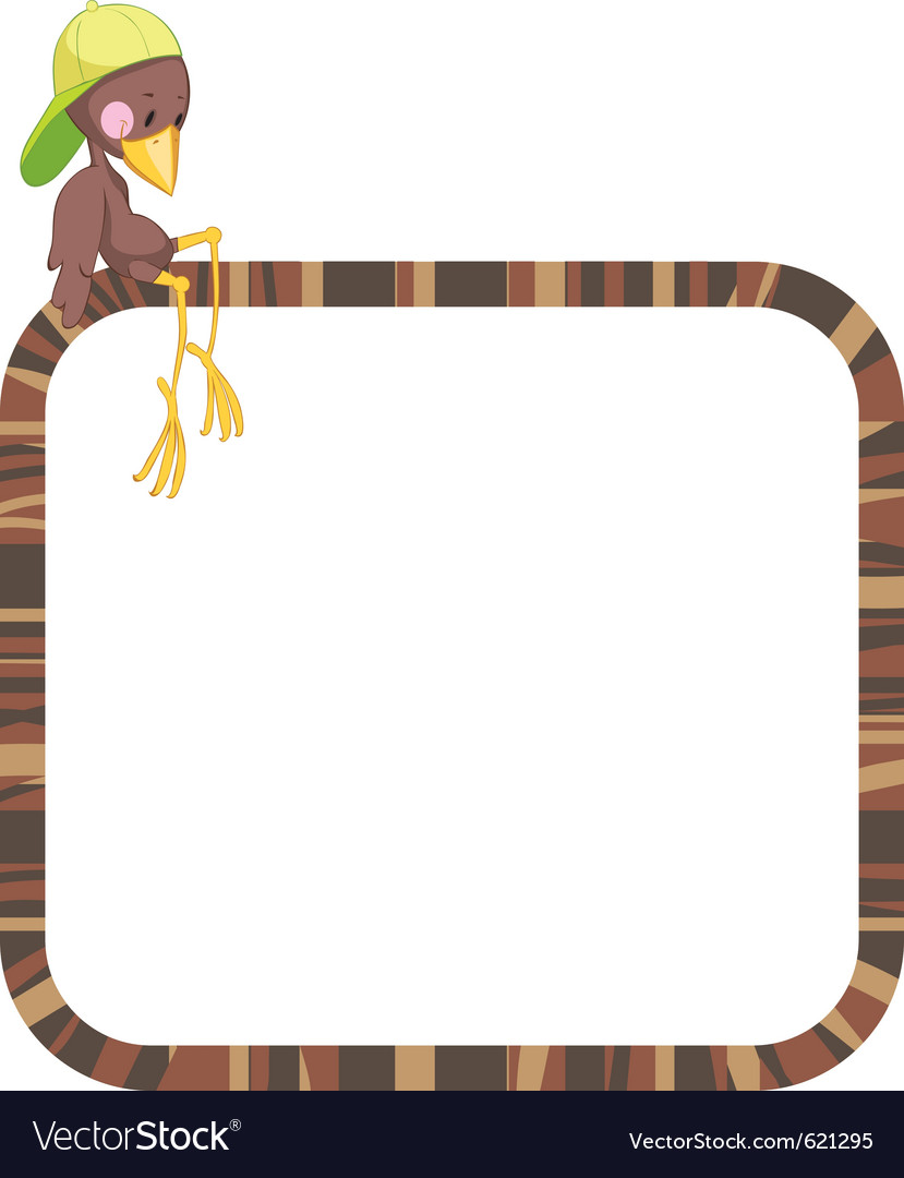 Label frame - funny birds vector | Price: 1 Credit (USD $1)