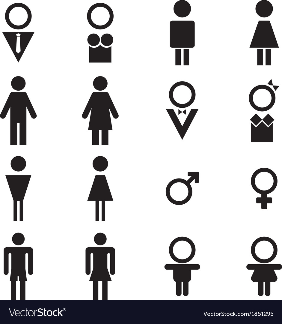 Male and female sign vector | Price: 1 Credit (USD $1)