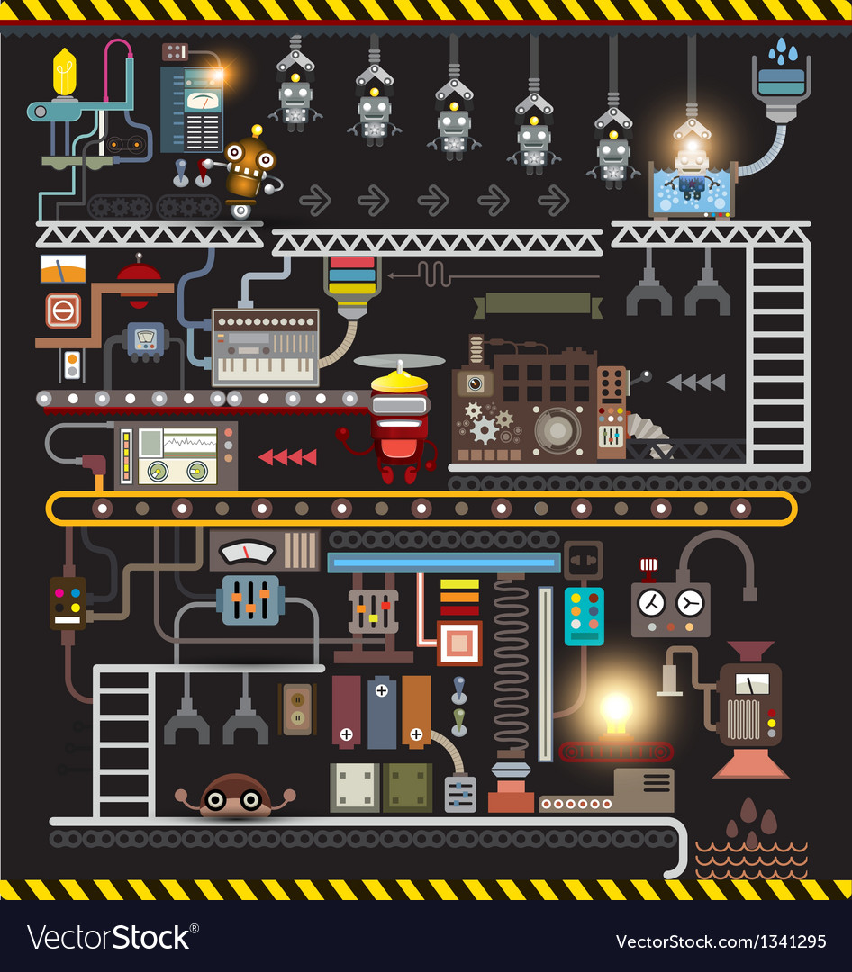 Robot engineering robot factory vector | Price: 3 Credit (USD $3)