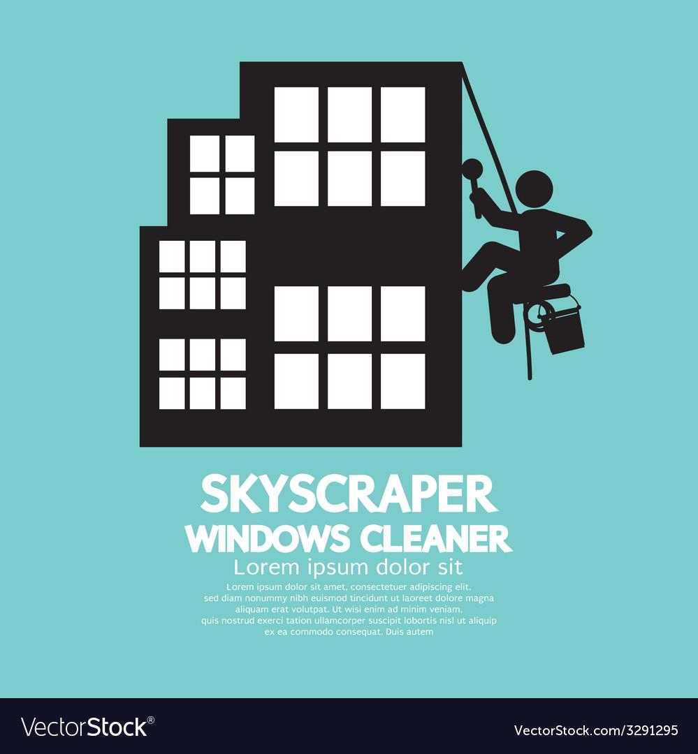 Skyscraper windows cleaner vector | Price: 1 Credit (USD $1)