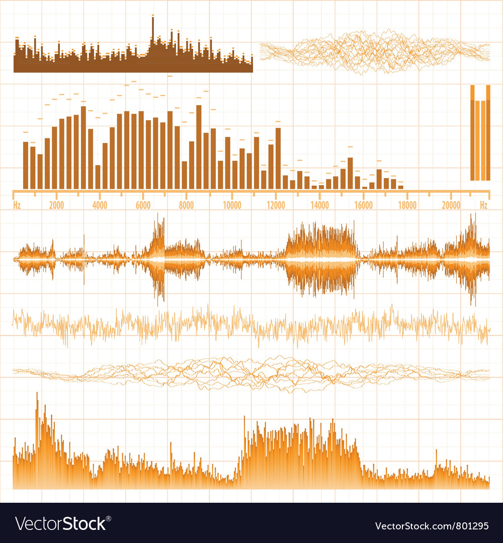 Sound waves music elements vector | Price: 1 Credit (USD $1)