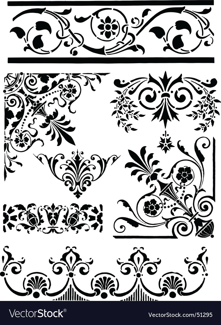 Vintage grunge design motifs vector | Price: 1 Credit (USD $1)