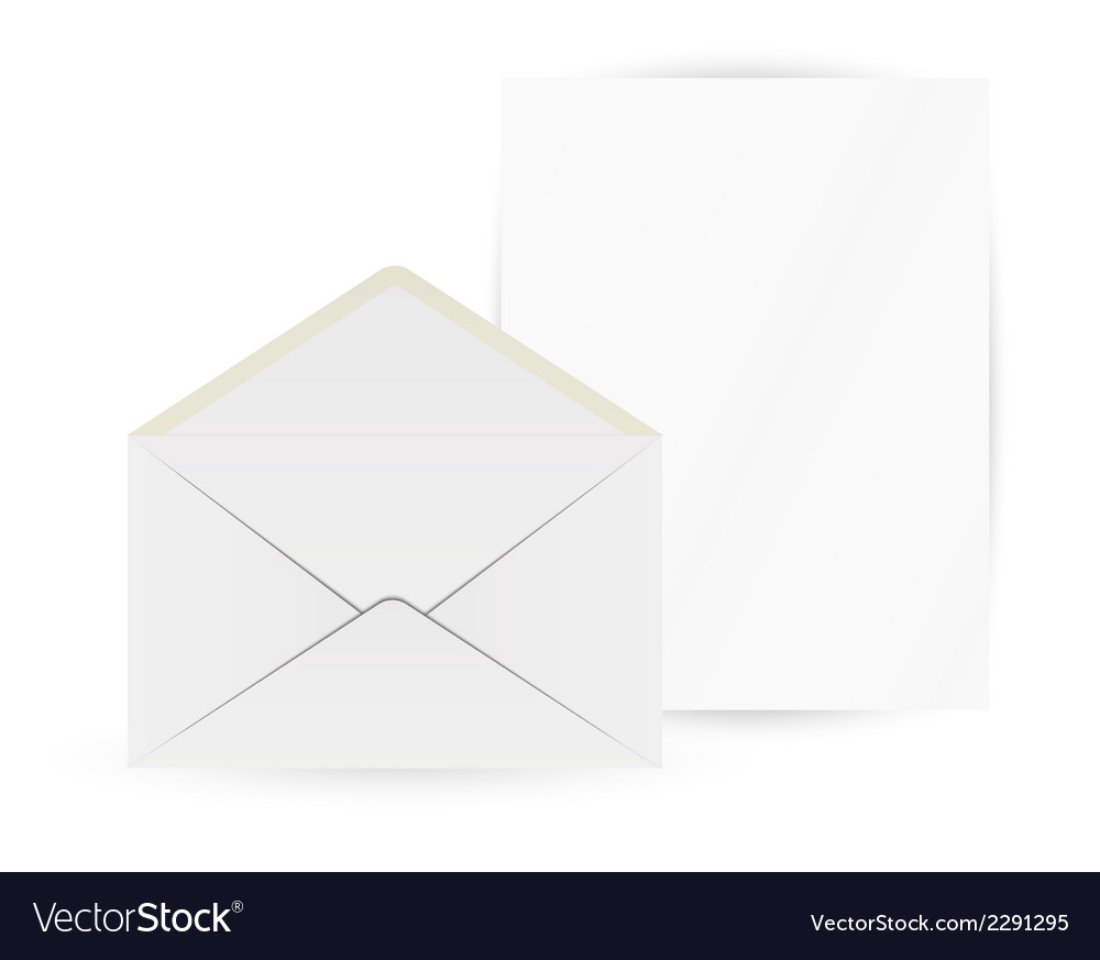 White envelope and paper vector | Price: 1 Credit (USD $1)