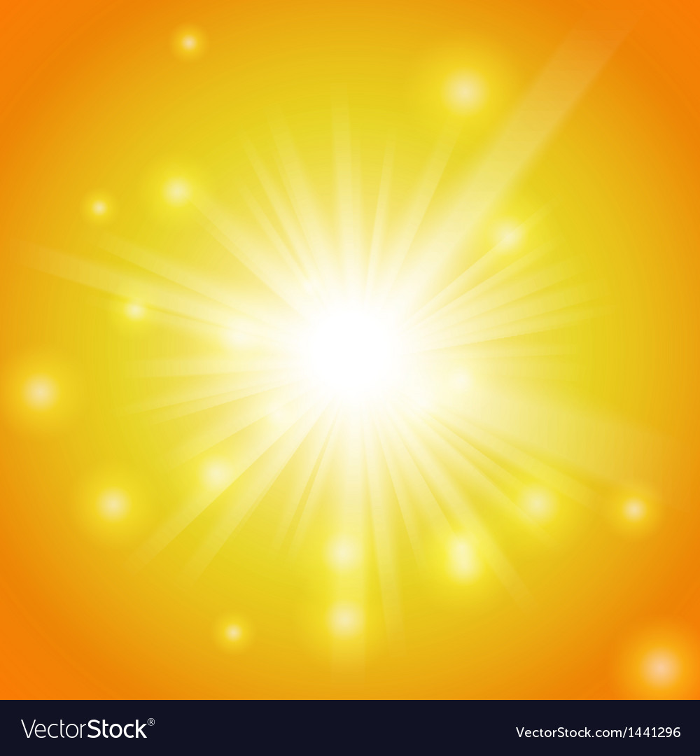 Abstract magic yellow light background vector | Price: 1 Credit (USD $1)