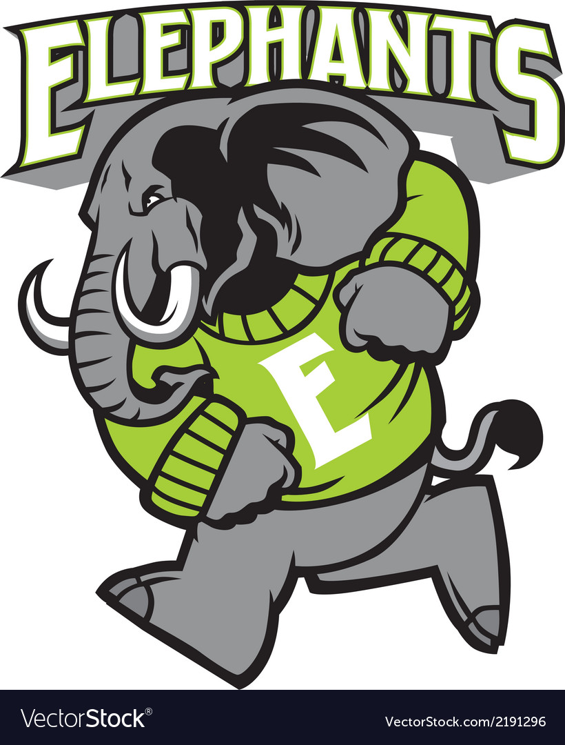 Elephant school mascot vector | Price: 1 Credit (USD $1)