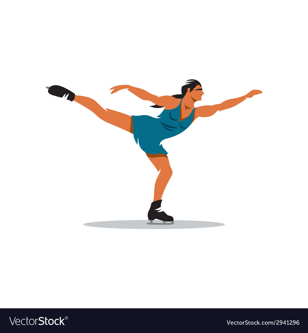 Figure skating sign vector | Price: 1 Credit (USD $1)