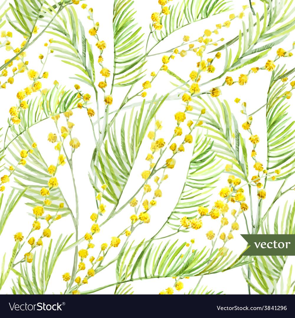 Mimosa pattern vector | Price: 1 Credit (USD $1)