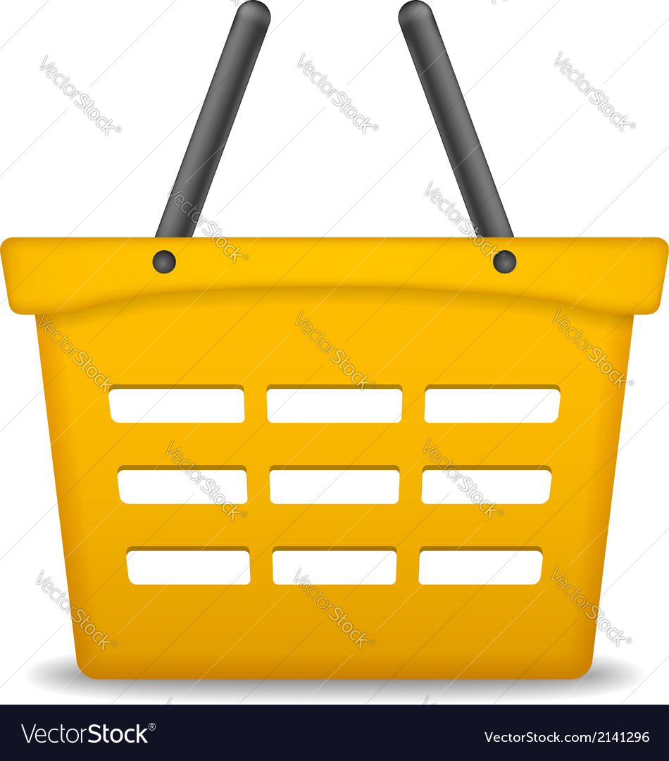 Orange shopping basket vector | Price: 1 Credit (USD $1)
