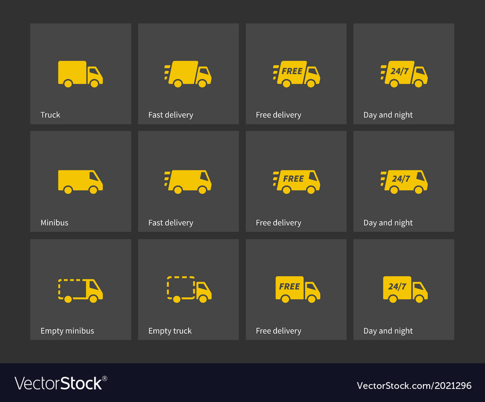Shipments and free delivery icons vector | Price: 1 Credit (USD $1)