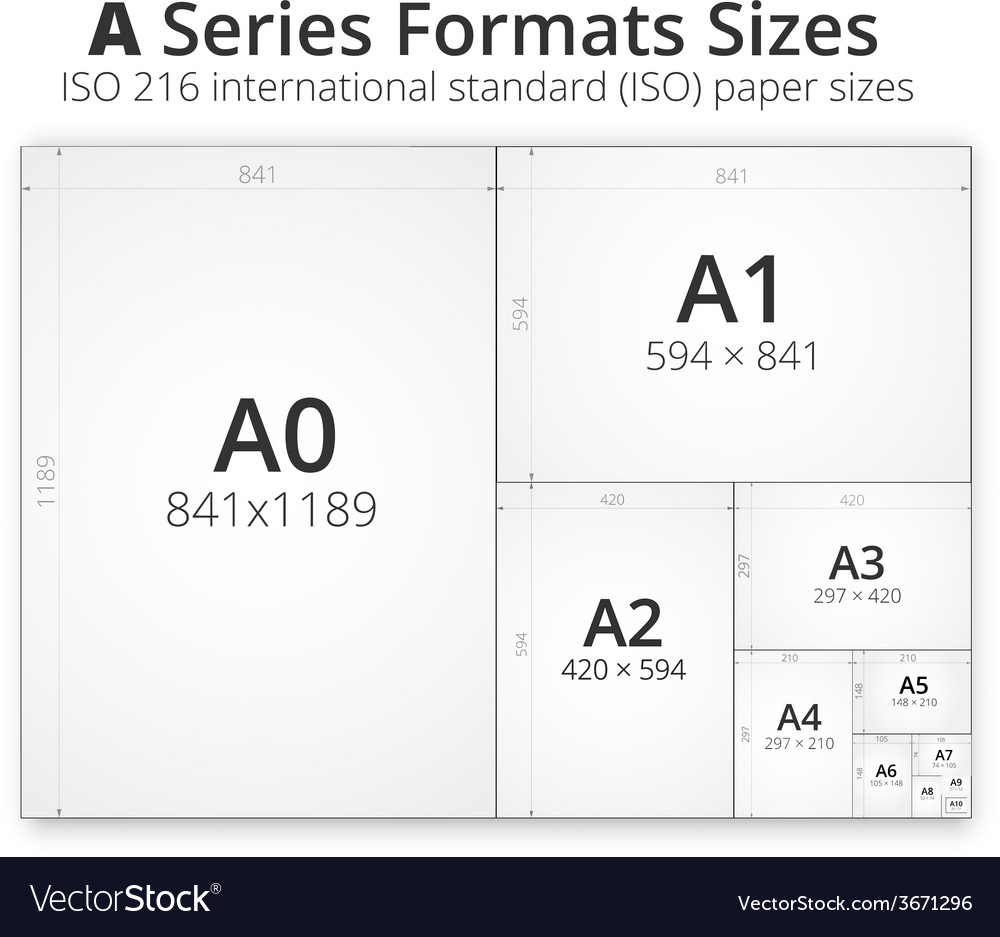 Size of format a paper sheets vector | Price: 1 Credit (USD $1)