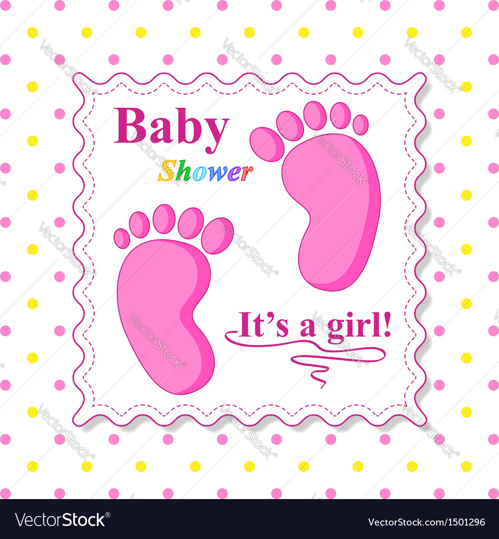 Sweet baby shower card vector | Price: 1 Credit (USD $1)