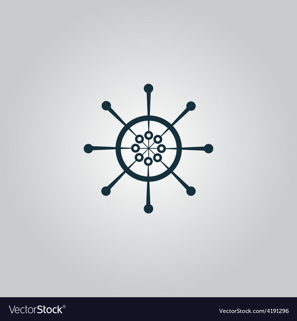 Yacht wheel symbol helm silhouette vector | Price: 1 Credit (USD $1)