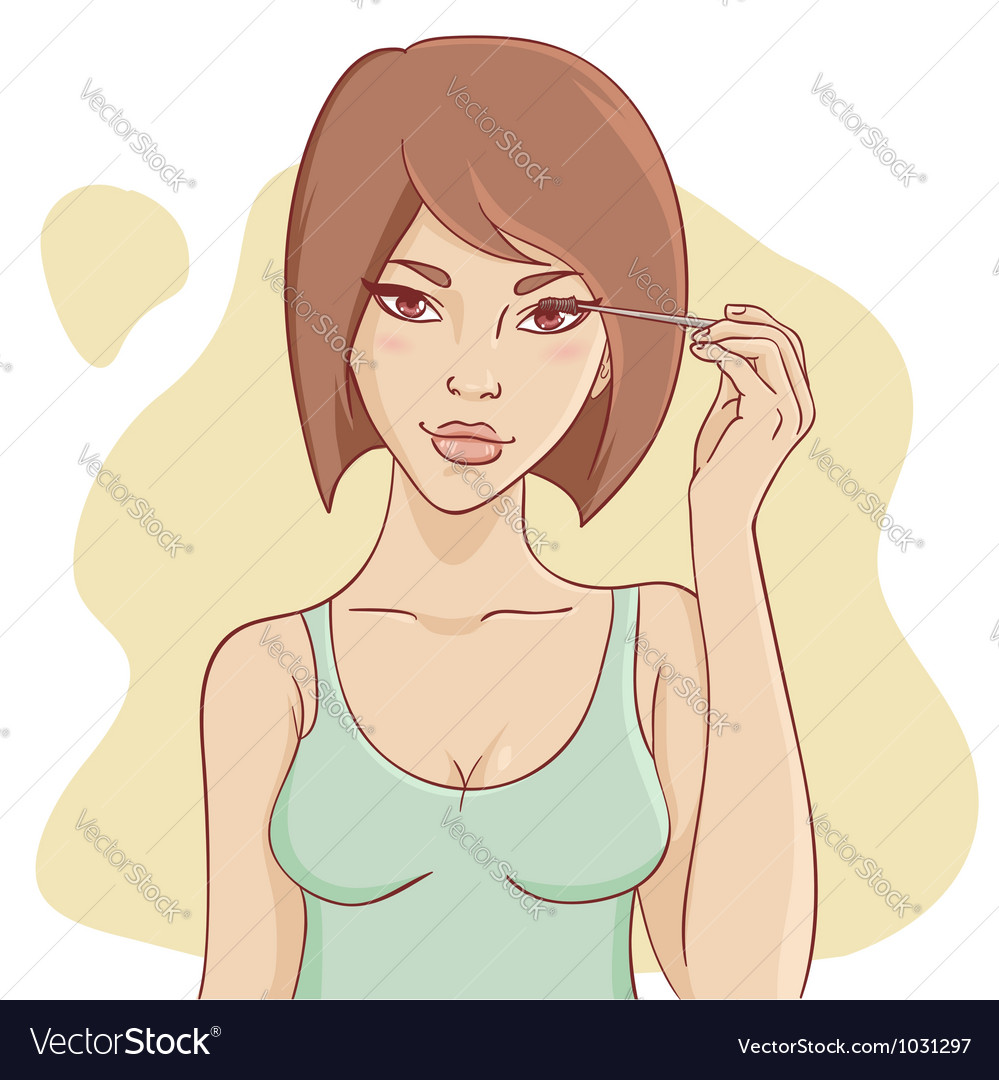 Attractive smiling young woman vector | Price: 3 Credit (USD $3)