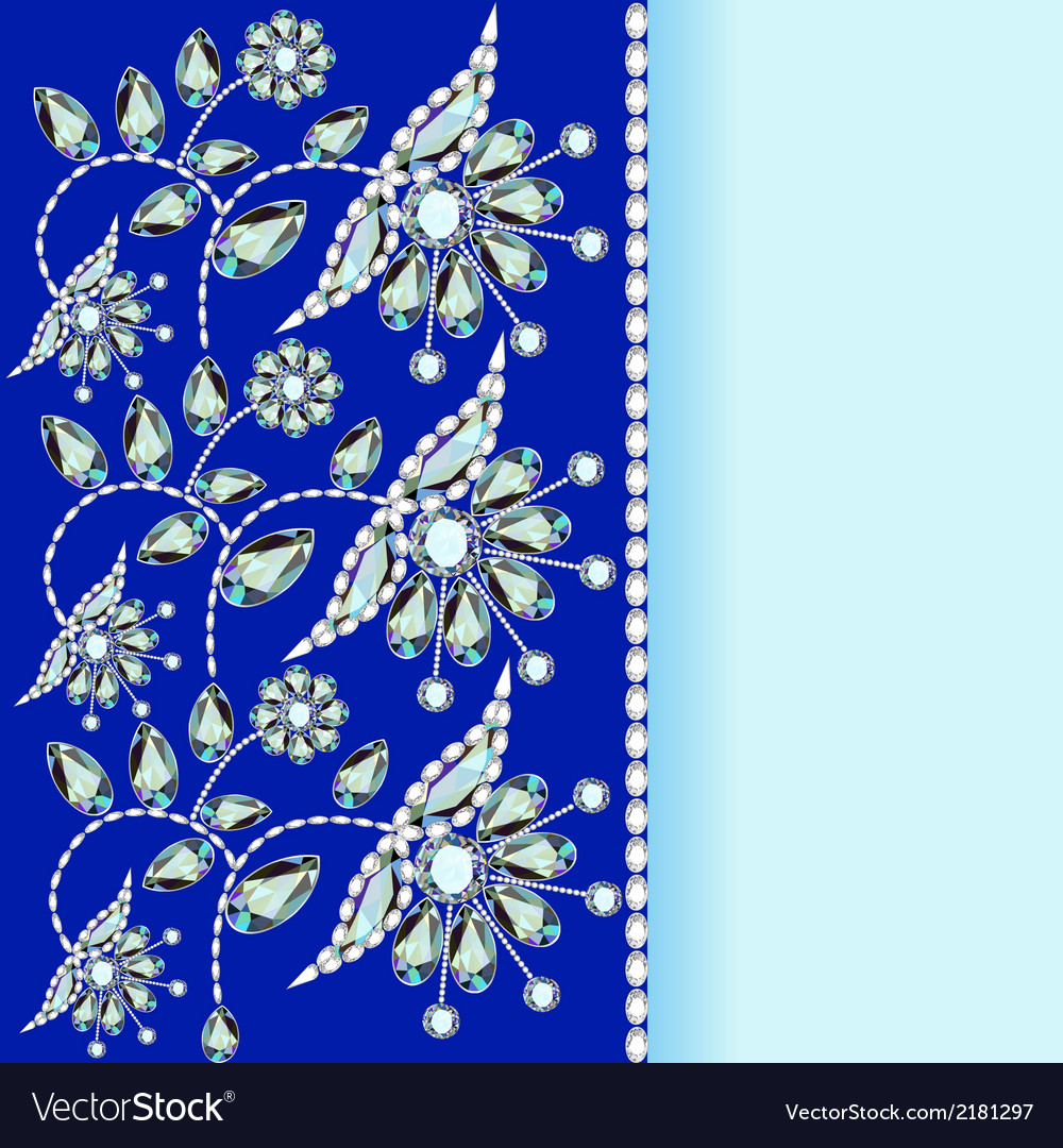 Background with a silver flowers vector | Price: 1 Credit (USD $1)