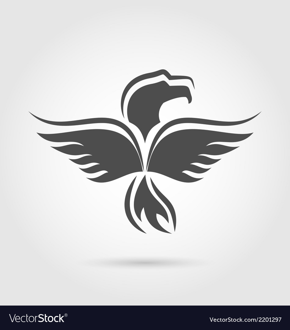 Eagle symbol isolated on white background vector | Price: 1 Credit (USD $1)