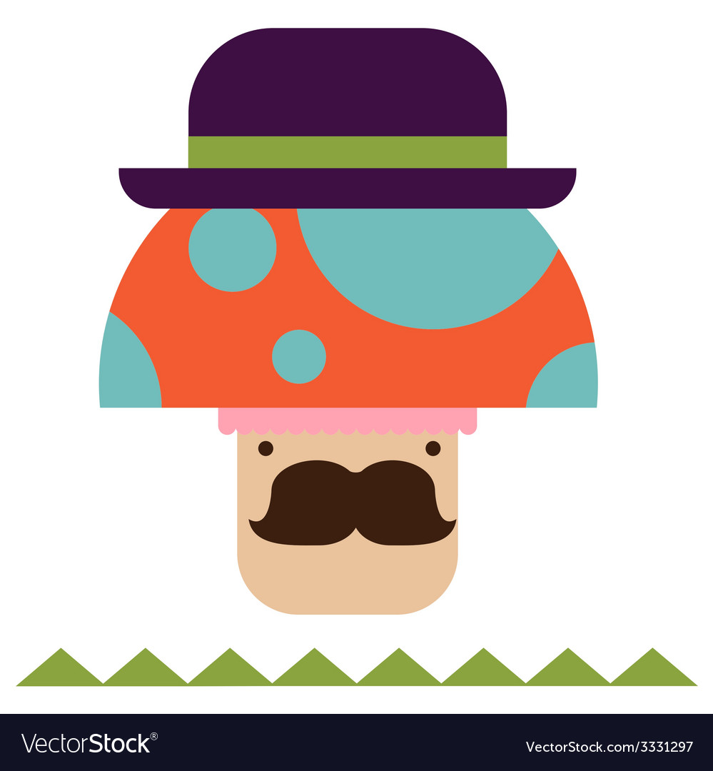 Fantasy mushroom character vector   Price: 1 Credit (USD $1)