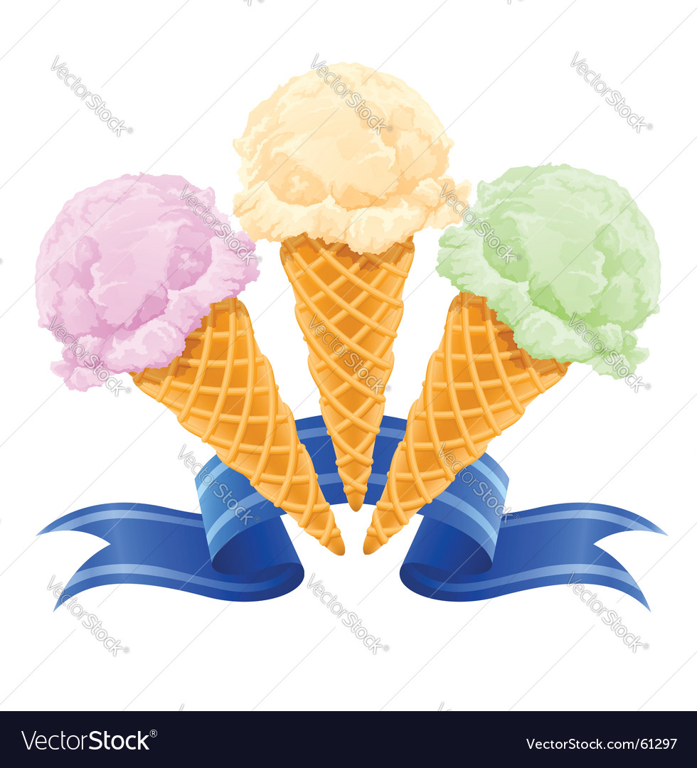Ice cream dessert vector | Price: 1 Credit (USD $1)
