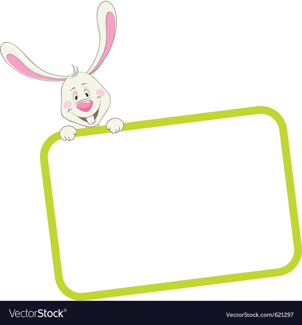 Label frame rabbit vector | Price: 1 Credit (USD $1)