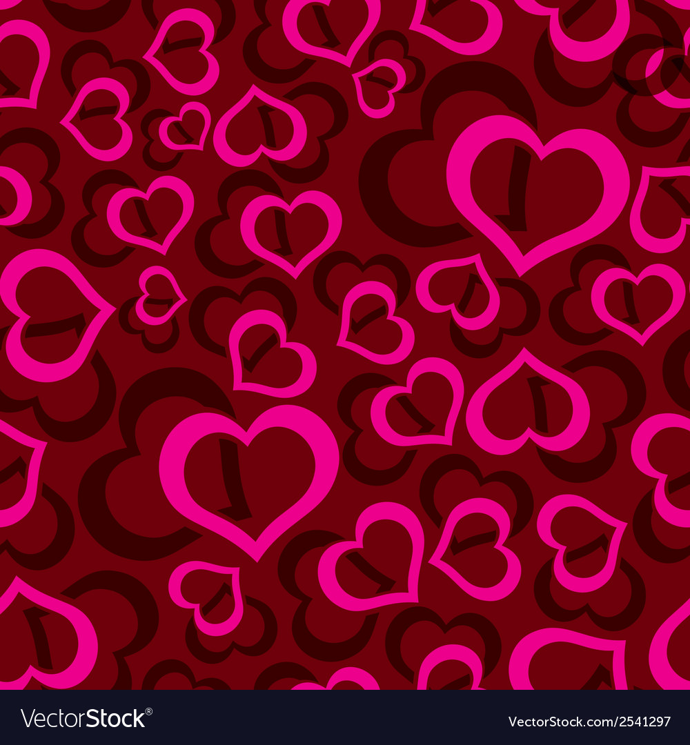 Love hearts seamless red pattern eps10 vector | Price: 1 Credit (USD $1)