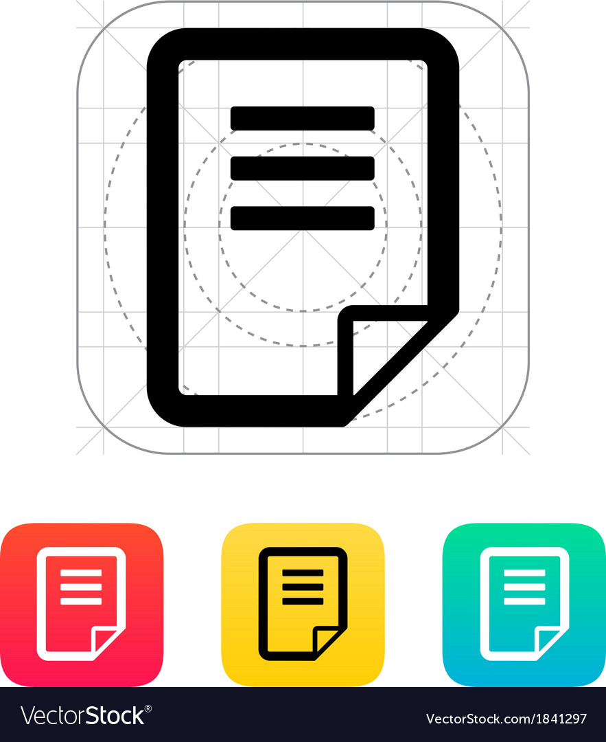Notepad page flip icon vector | Price: 1 Credit (USD $1)