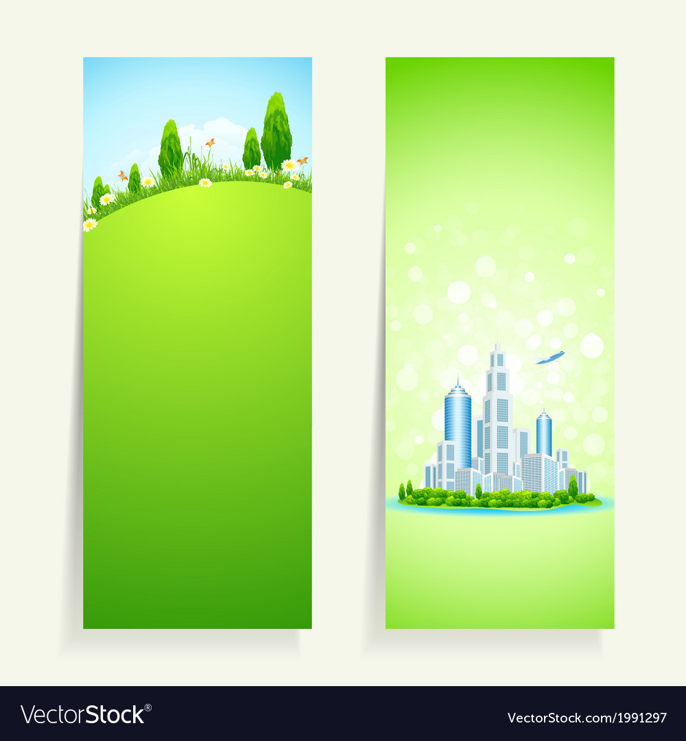 Two vertical banners vector | Price: 1 Credit (USD $1)