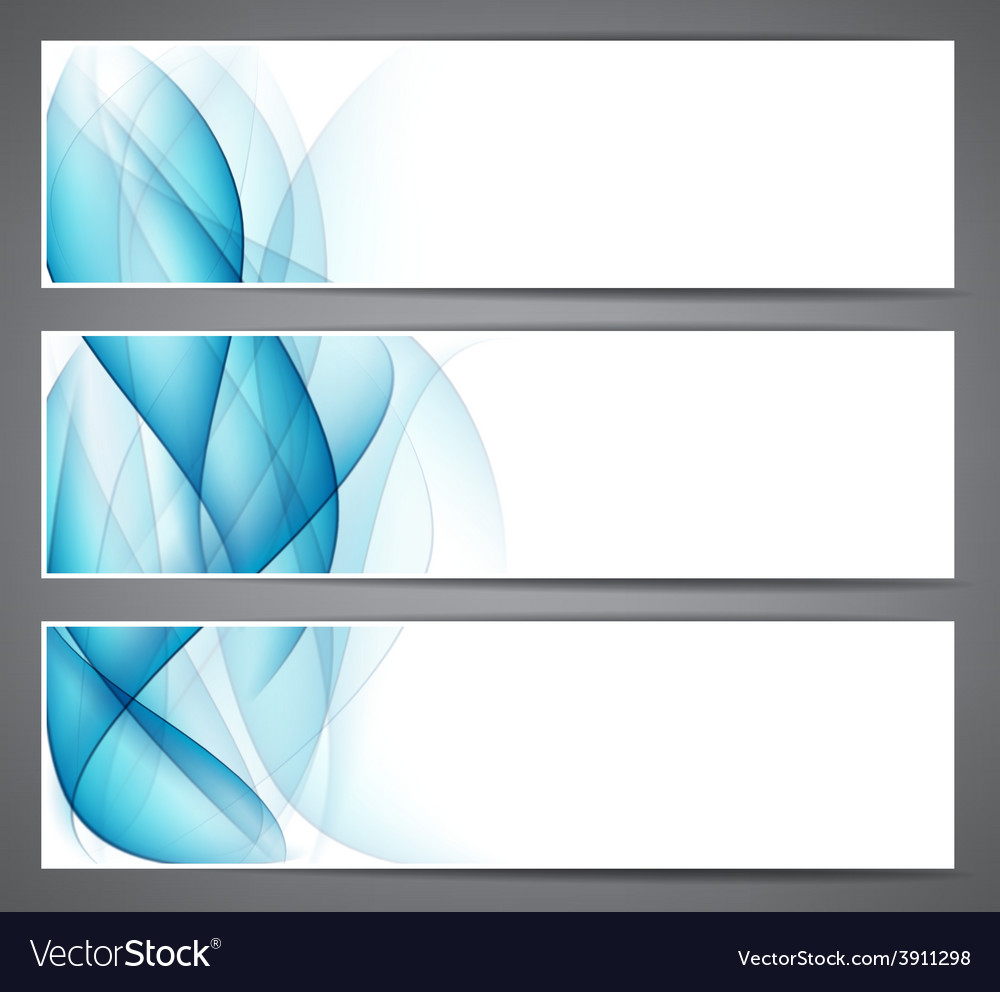 Abstract smoke blue headers vector | Price: 1 Credit (USD $1)