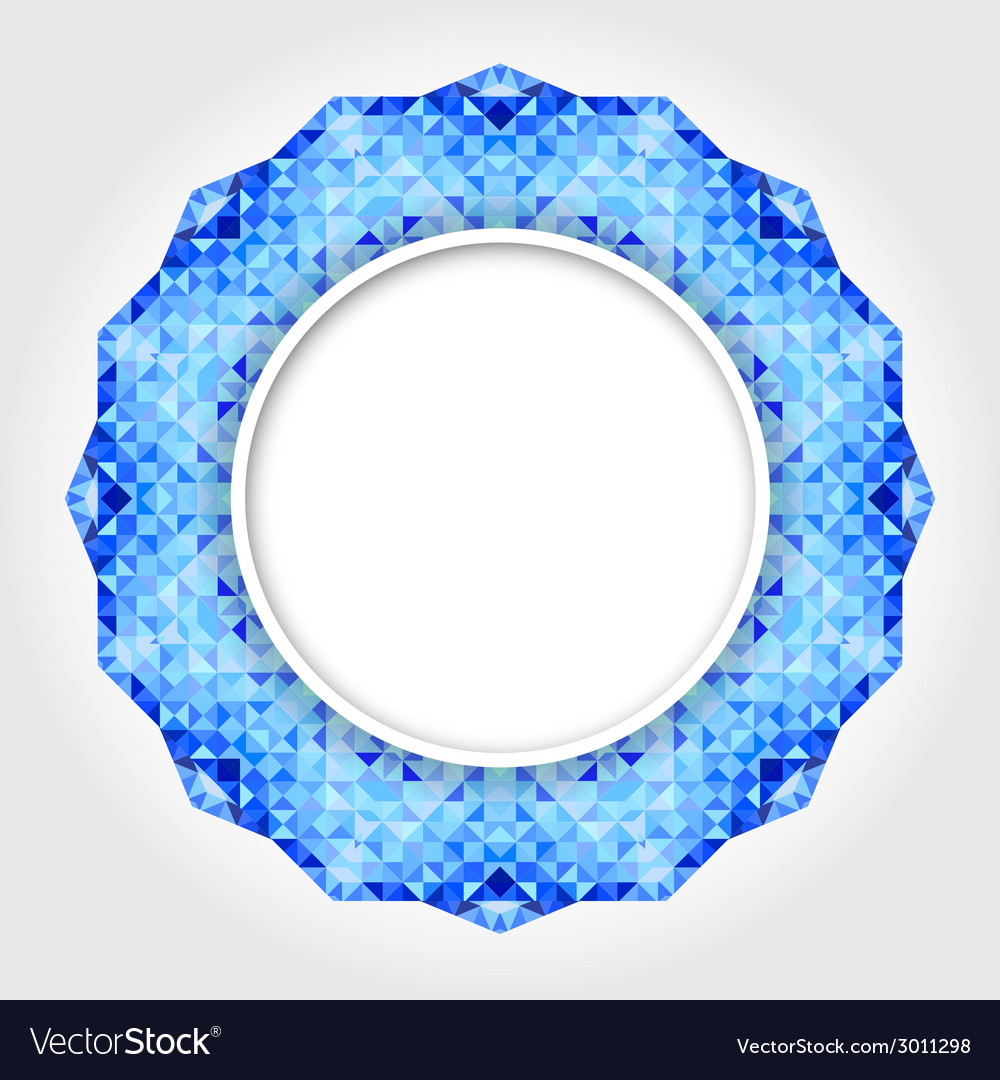 Abstract white round frame with blue digital borde vector   Price: 1 Credit (USD $1)
