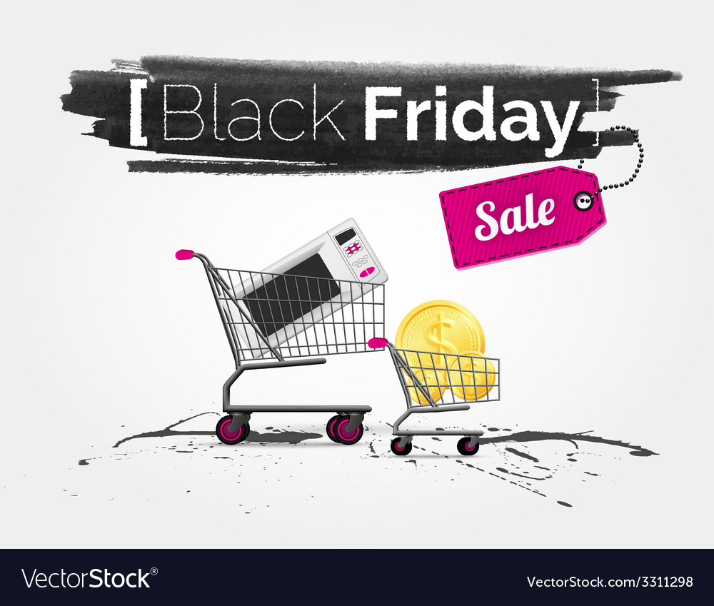 Black friday banner vector | Price: 1 Credit (USD $1)