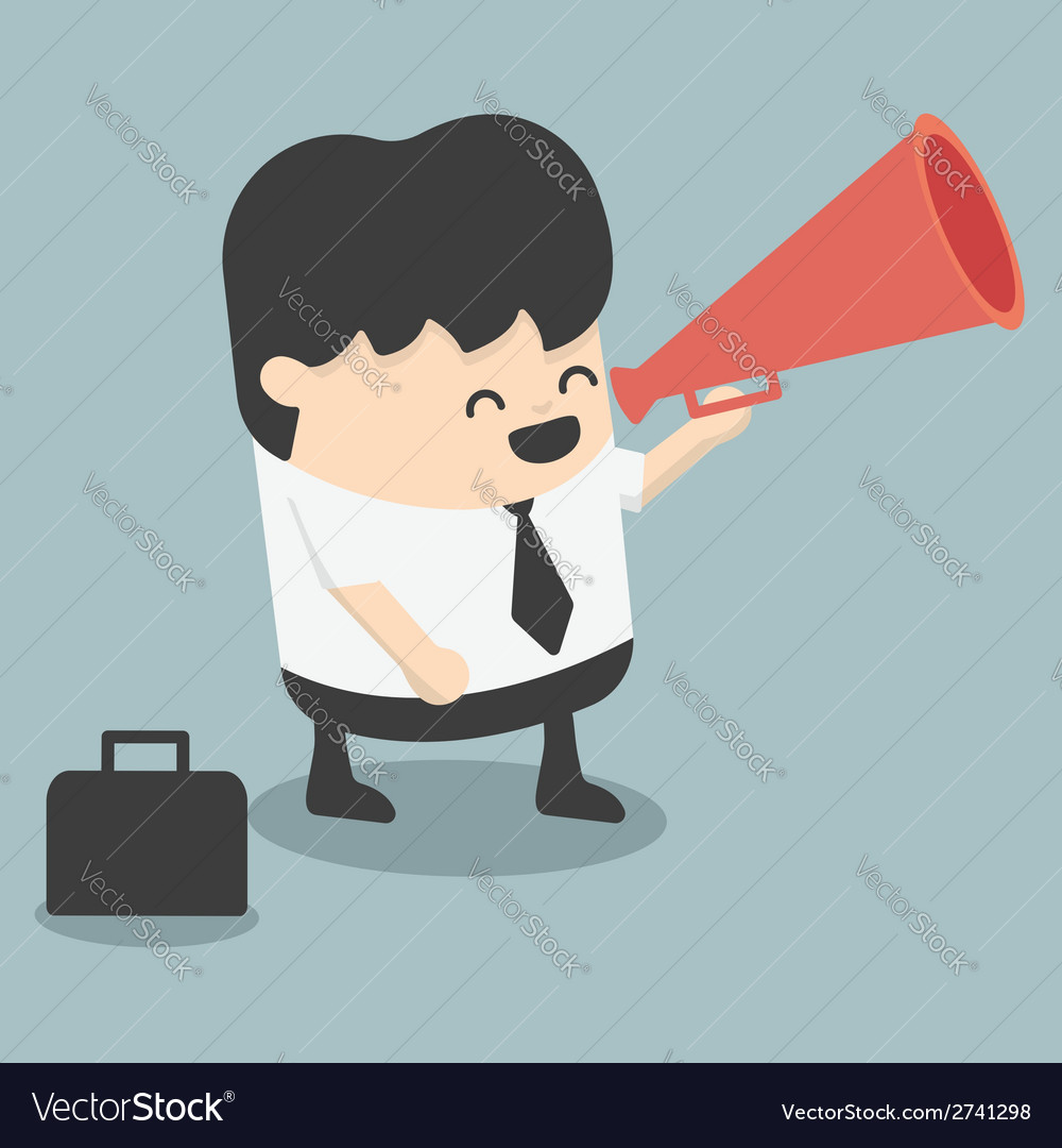 Businessman announced vector | Price: 1 Credit (USD $1)