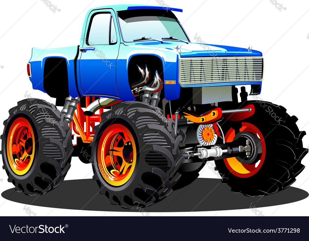 Cartoon monster truck vector | Price: 5 Credit (USD $5)
