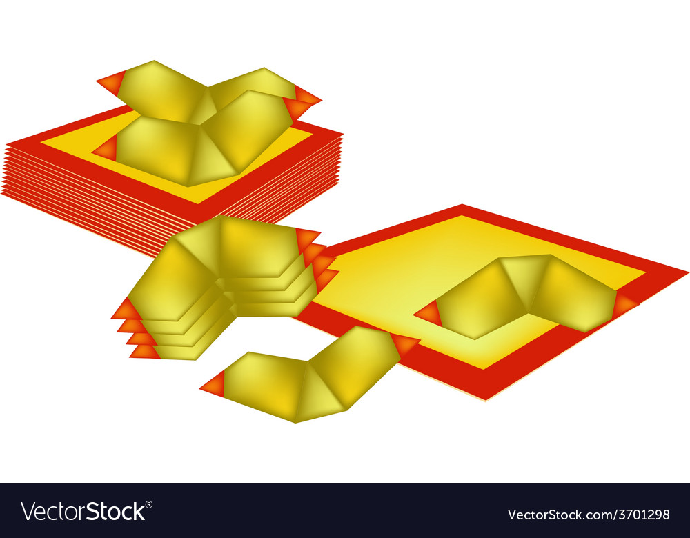 Chinese gold and joss paper for chinese new year vector | Price: 1 Credit (USD $1)