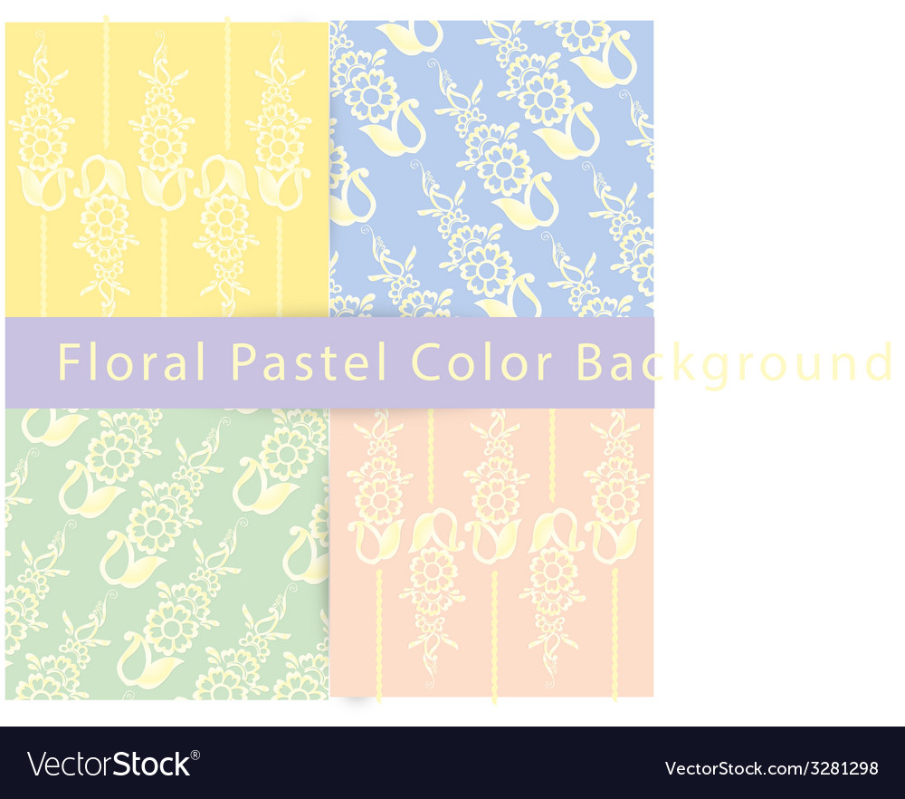 Floral pastel color background vector | Price: 1 Credit (USD $1)
