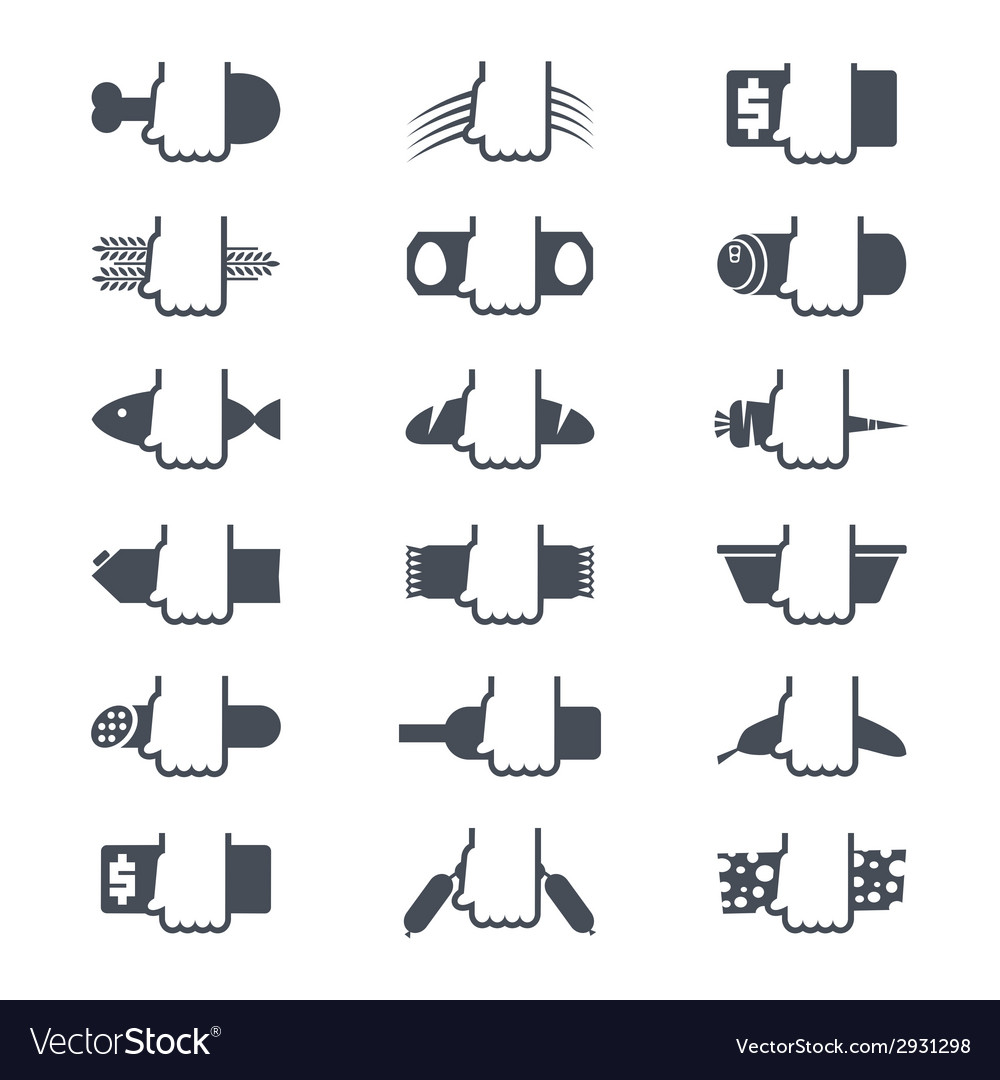 Foodstuffs icons set vector | Price: 1 Credit (USD $1)