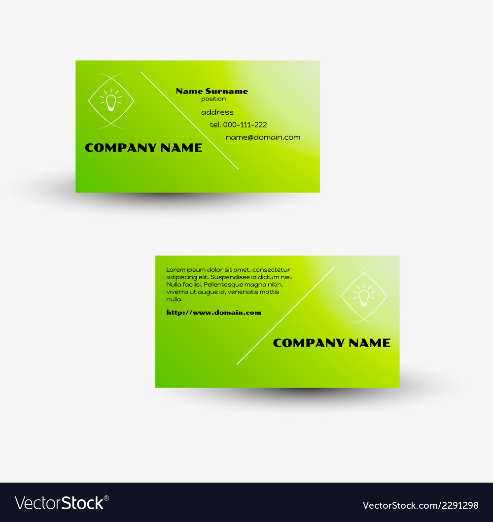Modern business card template vector | Price: 1 Credit (USD $1)