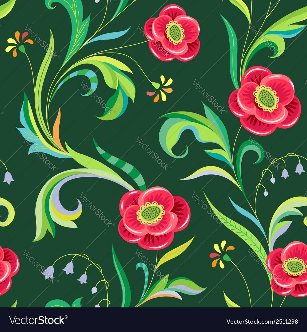 Pattern elegant flower vector | Price: 1 Credit (USD $1)
