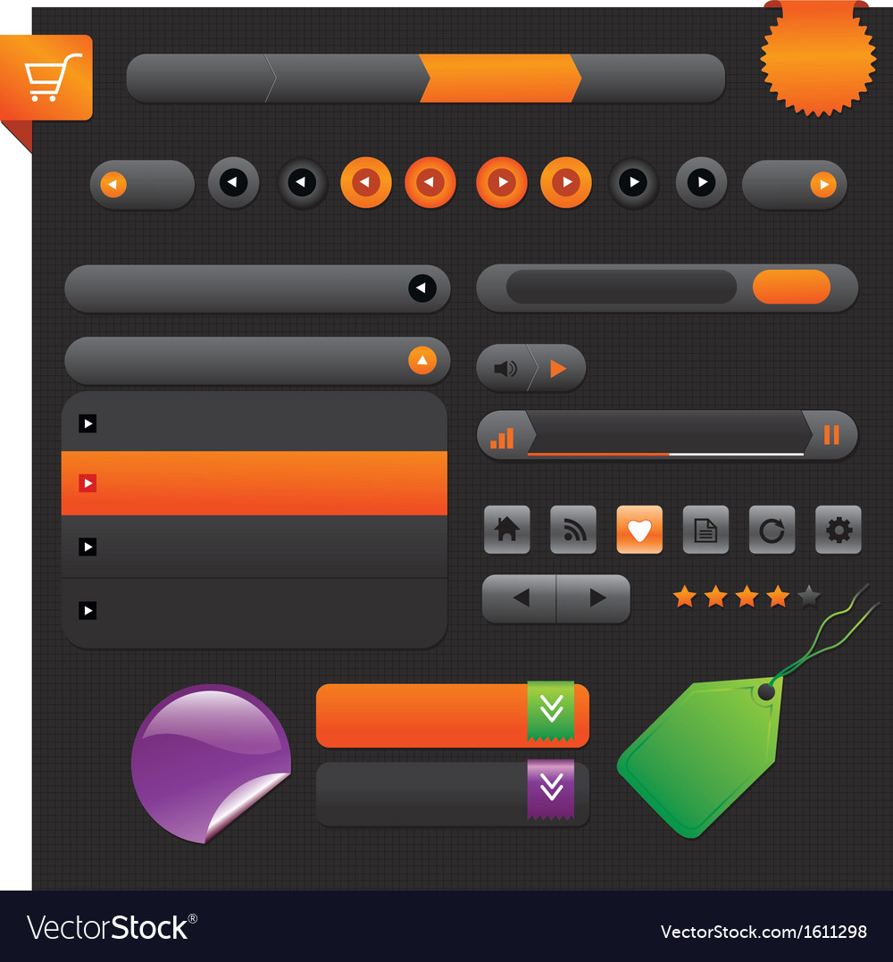 Shiny web buttons - vector | Price: 1 Credit (USD $1)