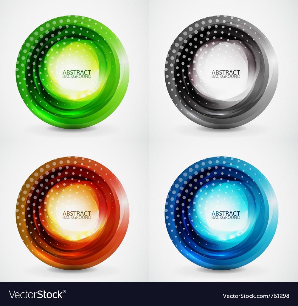 Swirl symbol icon background set vector | Price: 1 Credit (USD $1)