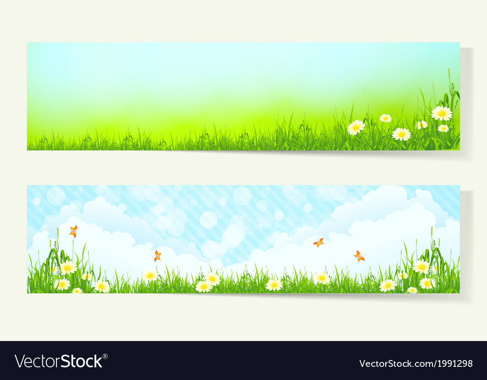 Two horizontal banners vector | Price: 1 Credit (USD $1)
