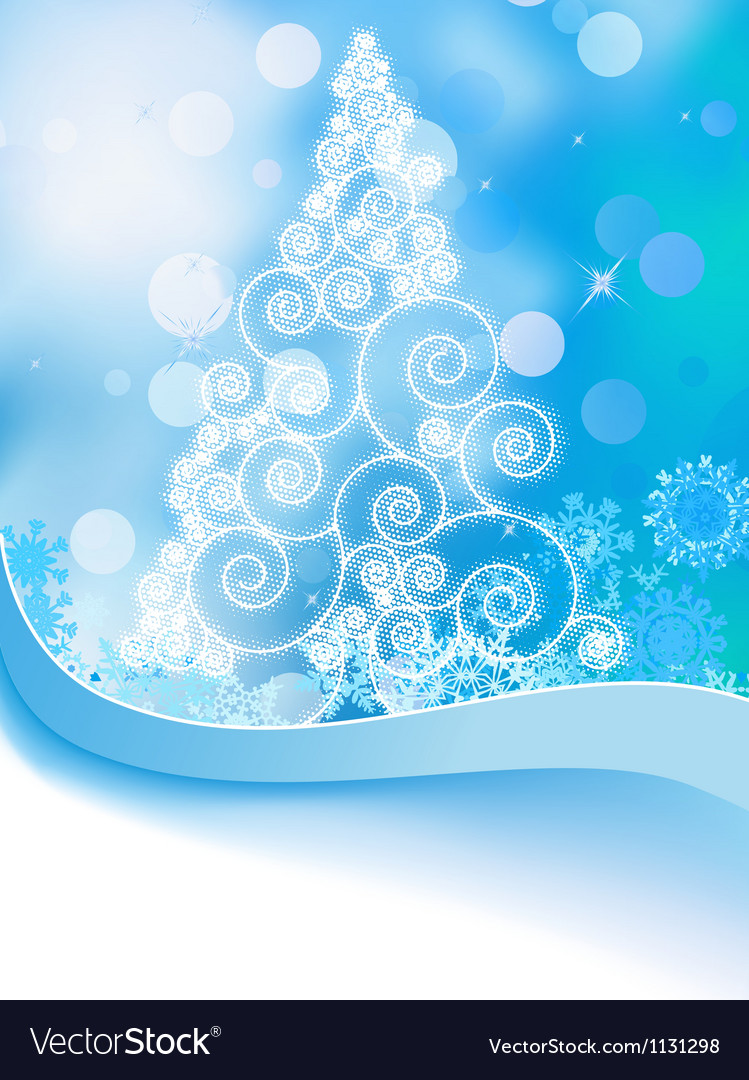 White christmas tree on abstract light eps 8 vector | Price: 1 Credit (USD $1)