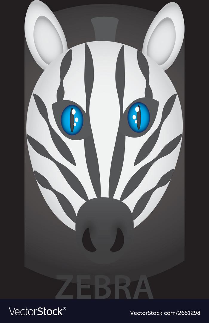 Zebra cartoon character head eps10 vector | Price: 1 Credit (USD $1)