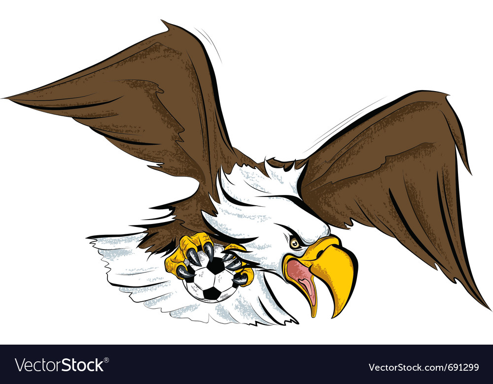 Eagle football sport mascot vector