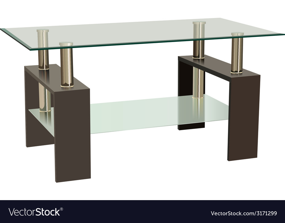 Glass table vector | Price: 1 Credit (USD $1)